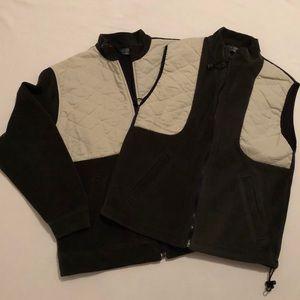 Green Vintage Orvis Jacket and Vest